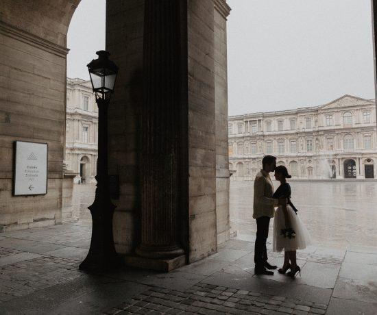 Couple Louvre Paris Photography